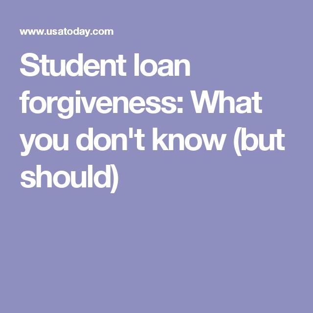 should student loan debt be forgiven