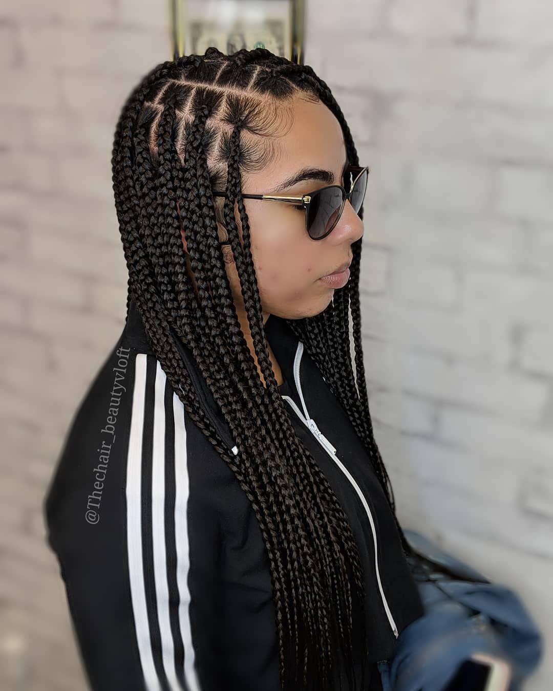 29++ Medium knotless braids styles ideas