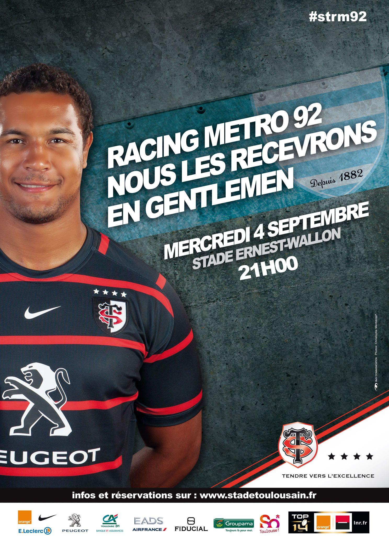 Affiche match Stade Toulousain Racing Métro 92 (4ème