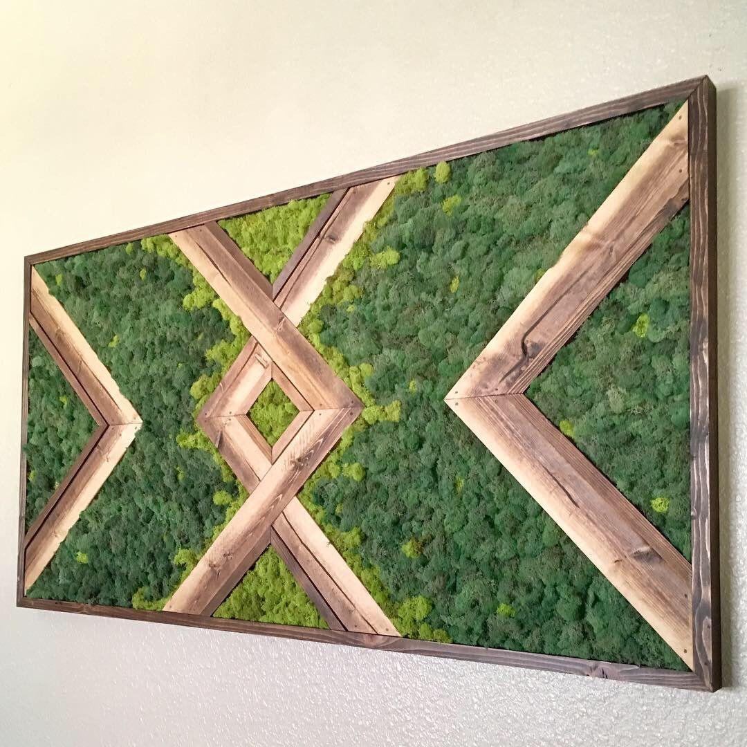 Ombré Moss Wall | Etsy | Living wall art, Green wall ...
