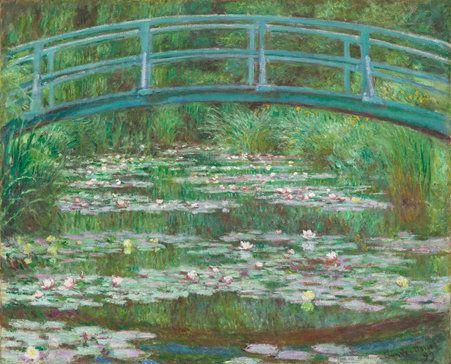 Monet. The Japenese Footbridge, 1899.