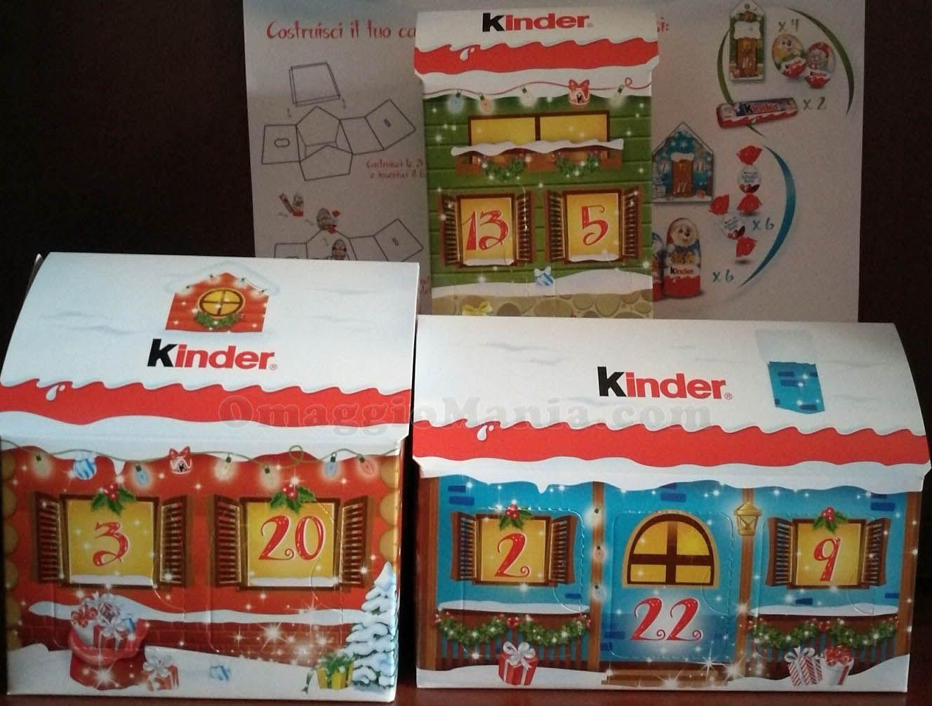 Calendario Avvento Kinder.Calendario Dell Avvento Kinder Omaggio Campioni Omaggio