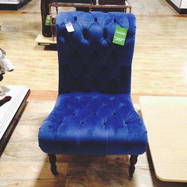 Blue Velvet Chair Homegoods Home Goods Store Blue Velvet Chairs