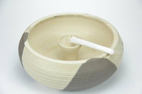 cigar ashtray, ceramic ashtray, vintage ashtrays, white black ashtray, outdoor ashtray, ashtray stand, cool ashtray, ceramic and pottery