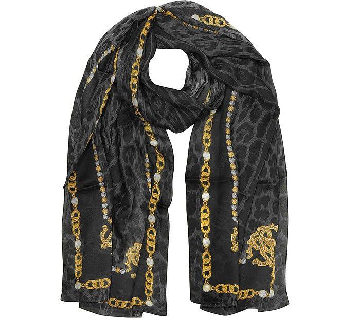 size 40 03166 2f4da ROBERTO CAVALLI RC Printed Silk Stole. #robertocavalli ...
