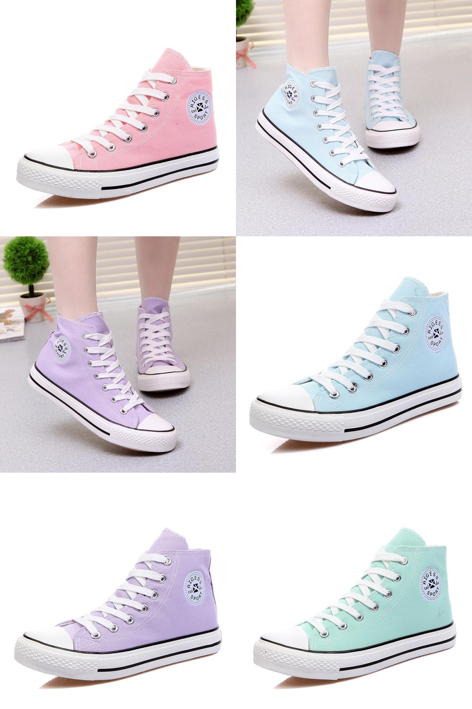 Visit to Buy  RIGESS Women s casual shoes 2017 classic candy color in  canvas shoes 7120c365ad5c