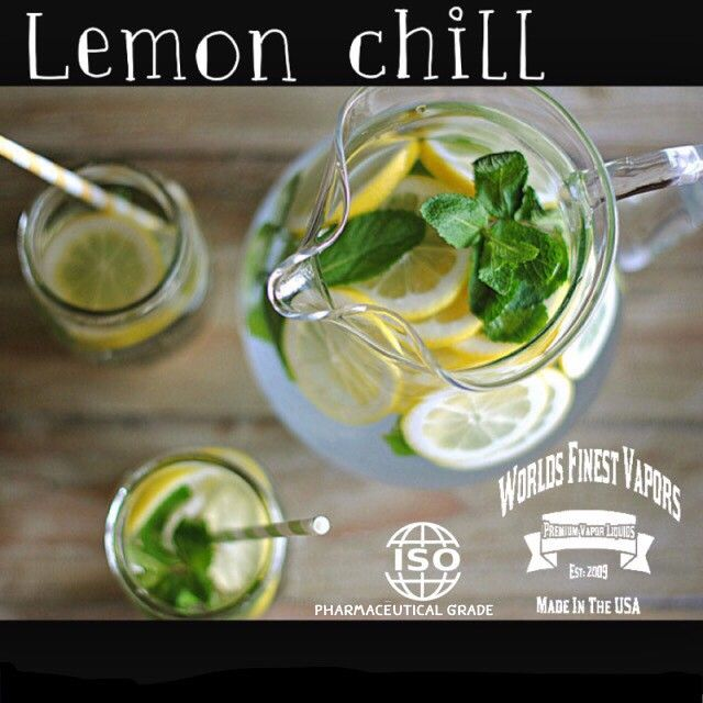 Lemon + Mint = Lemon Chill ❌⭕️❌⭕️  Worlds Finest Vapors Available in 0,3,6,12,18,24,36 mg of nicotine.  Made in the  U.S.A.  Do You Know Where Your E-Liquids Are Made? You Should!  We Make All of Our Worlds Finest Vapors In Our ISO 9000:2008 Lab Right Here in the Good Ole US of A! We Use ONLY U.S. INGREDIENTS! Our Flavors are ALL Natural and Organic with NO Food Coloring or Other Sy...