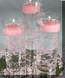 Utiliza vasos altos para crear unos hermosos centros mesa - Vaso con agua ...