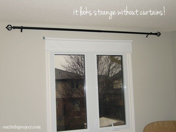 How To Install A Curtain Rod With Pictures Installing Curtain