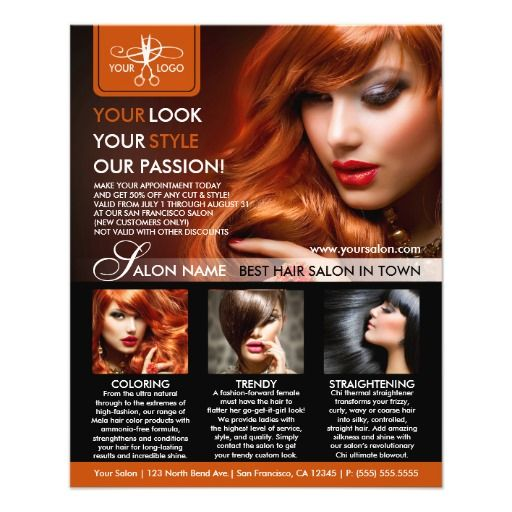 Hair Salon Or Hair Stylist Flyer Template Spa And Salon Flyers - hair salon flyer template