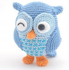 Hiboux Bleu Tricot Et Crochet Hiboux En Crochet Et Crochet