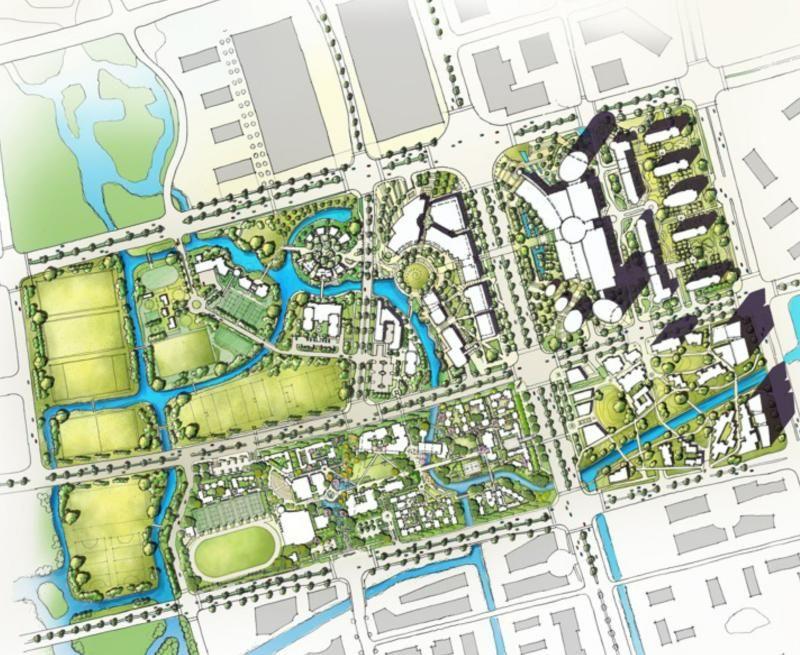 Eco City Master Plan And Tailin International Boarding School Wuxi China Peyzaj Mimarisi Sehir Planlama Peyzaj Tasarimi