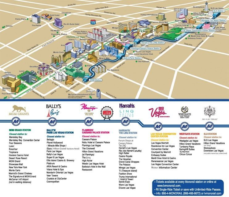 Las Vegas Strip Hotels And S Map