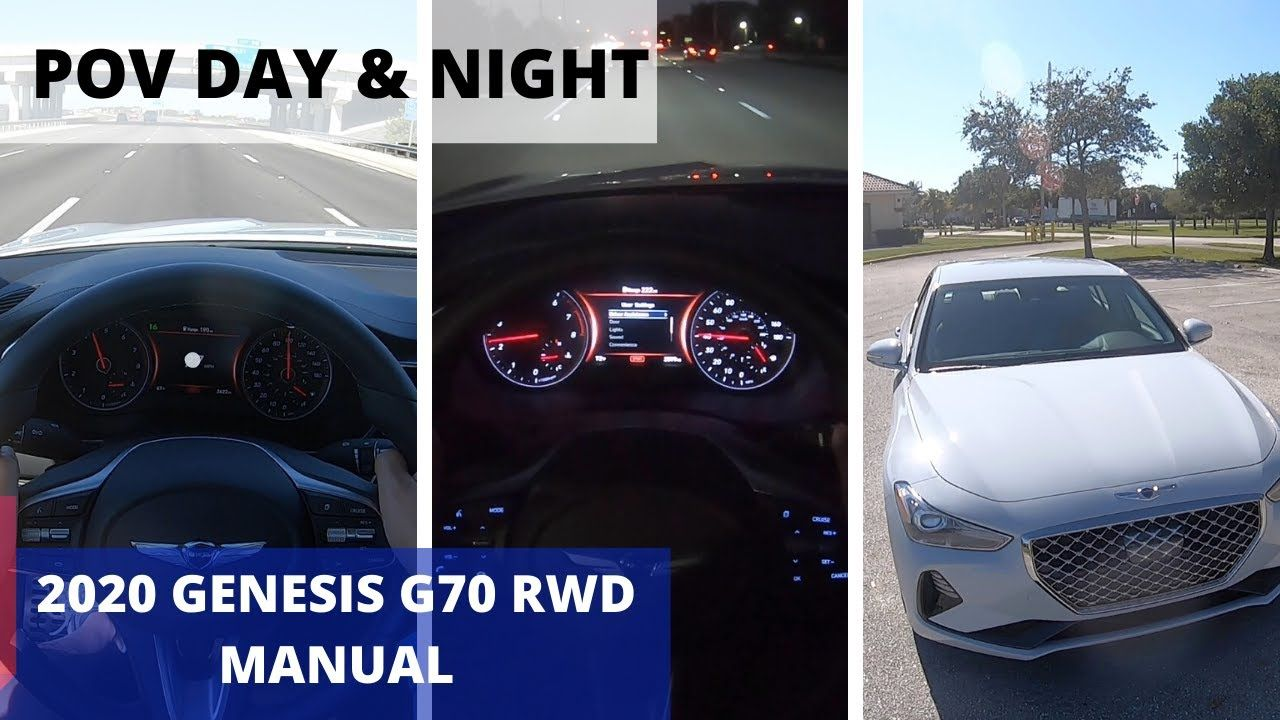 2020 Genesis G70 Manual 2.0T Sport 6Speed POV Day and