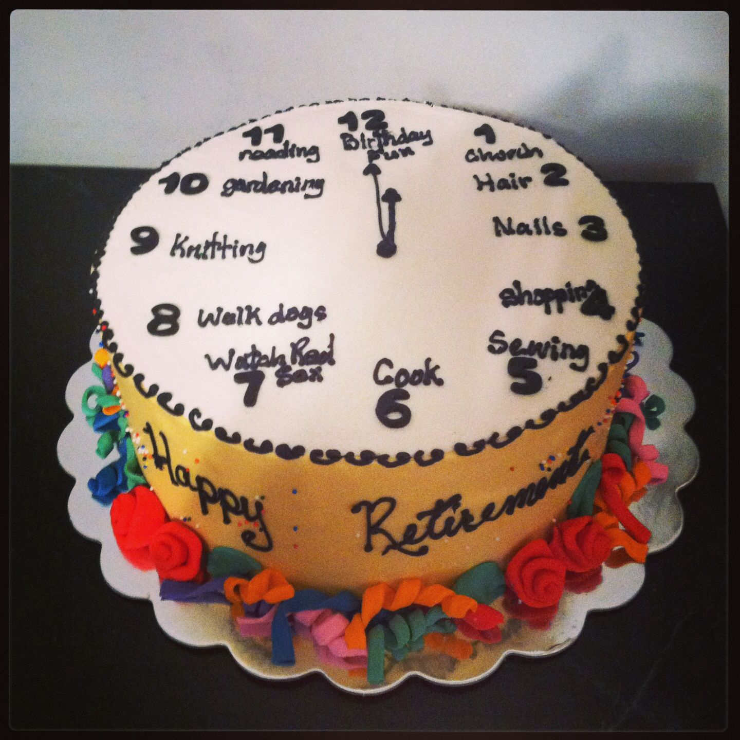 Retirement Cake Cakes By Lucy Pinterest Retirement