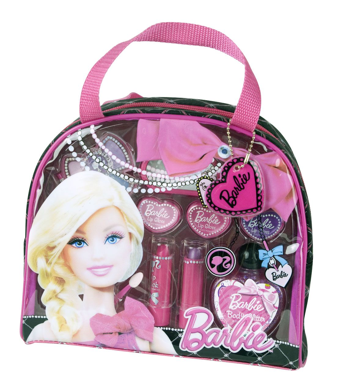 barbie makeup kit for kids. carry all your essentials in the gorgeous barbie fashion tote! #barbie # makeup kit for kids y