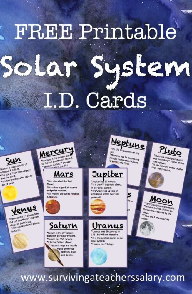 Photo of FREE Printable Solar System ID Flashcards for Space Science Learning