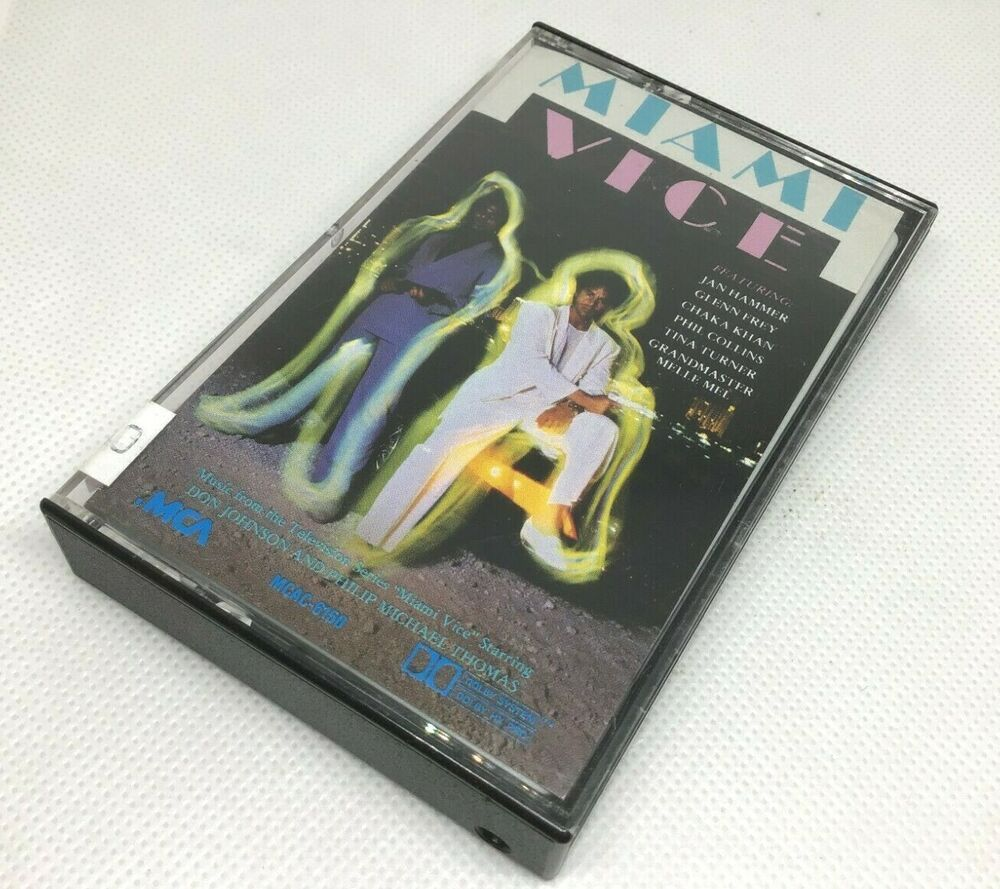Miami Vice Music From The Television Series Soundtrack Cassette 1985 Mcac 6150 Vice Music Miami Vice Cassette