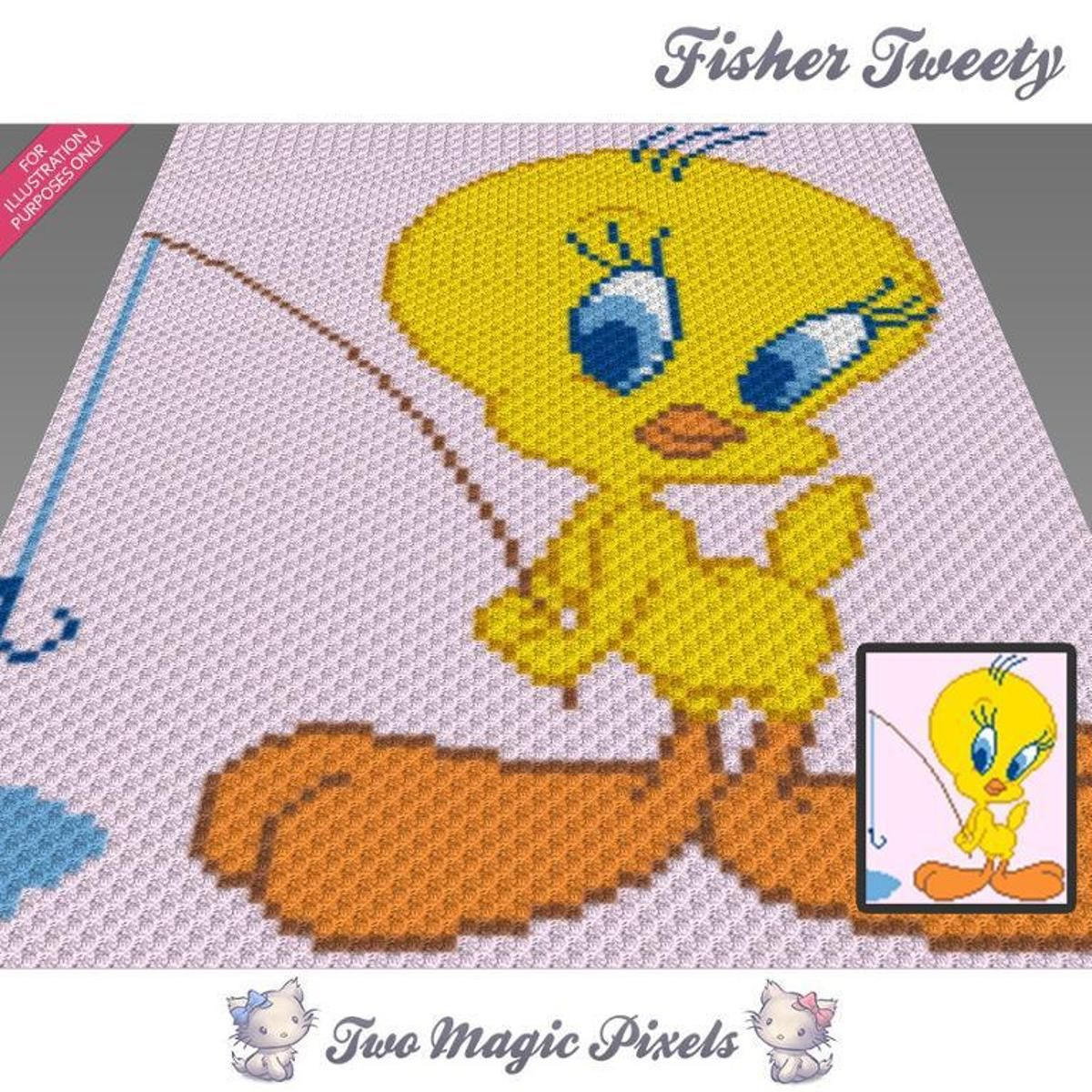 Fisher Tweety C2C Crochet Graph | Pinterest | c2c Häkeln, Deckchen ...