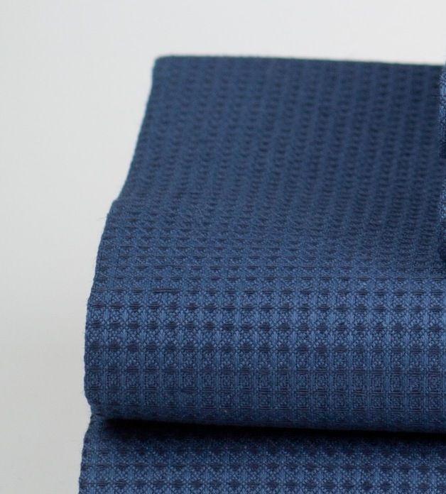 Handtücher - Blau Leinen-Badetuch Wafer Geschenkpack - ein Designerstück von kukshome bei DaWanda