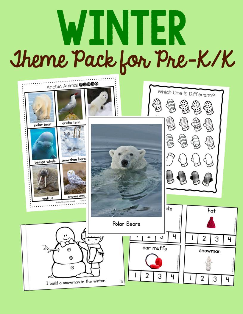 New! Winter Theme Pack for Preschool & Kindergarten | Arctic animals ...