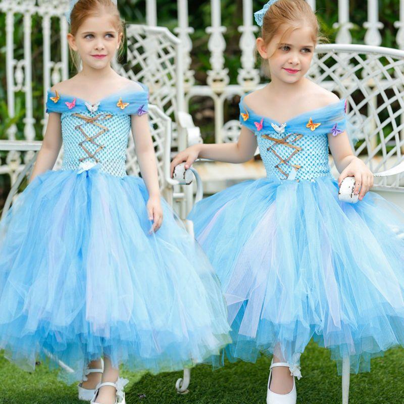 Click to Buy << 2016 Hnadmade Girl Spring Princess Cinderella Dress ...