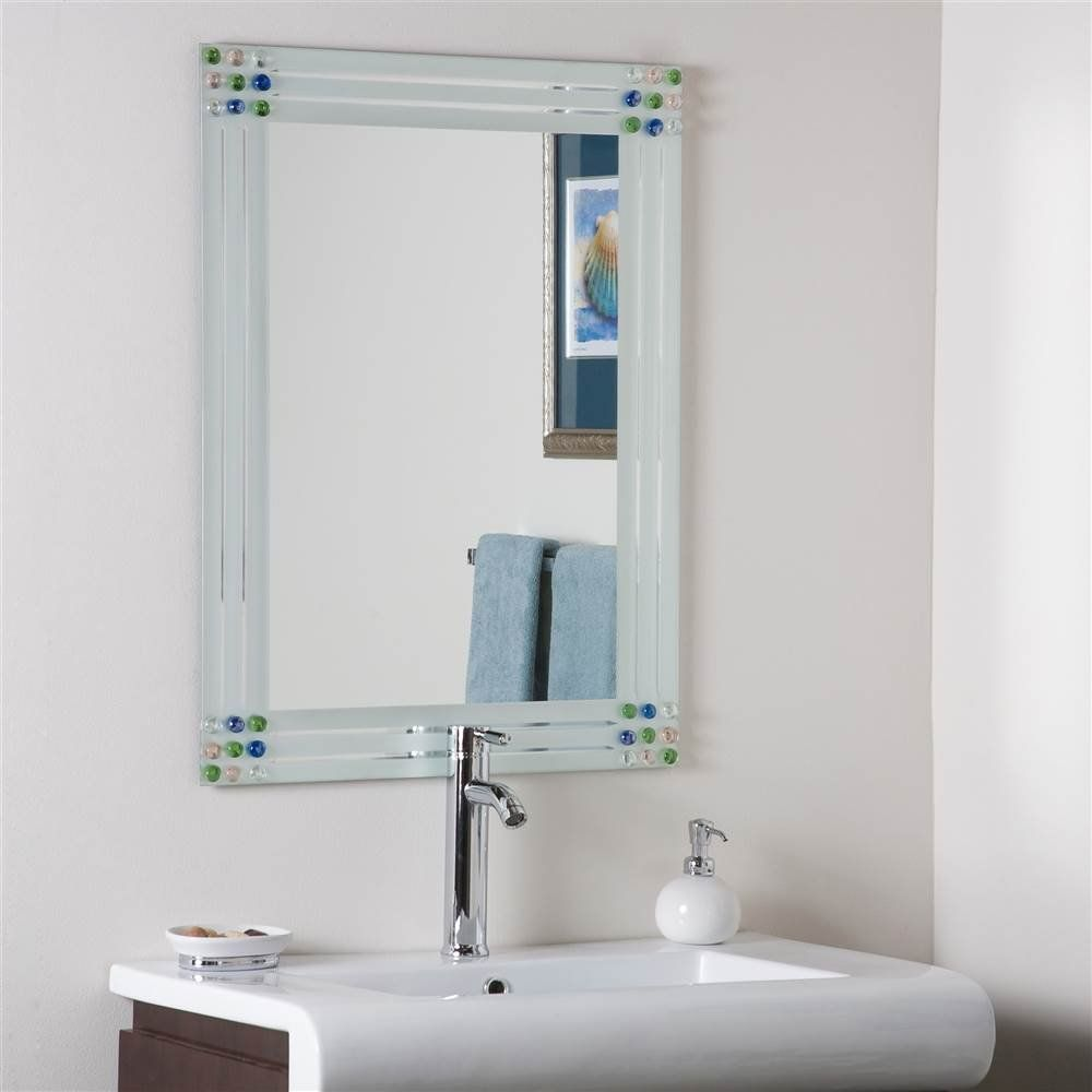Frameless Mirror Mounting Kit Modern Decorative Wall Mirror Includes Mounting Hardware