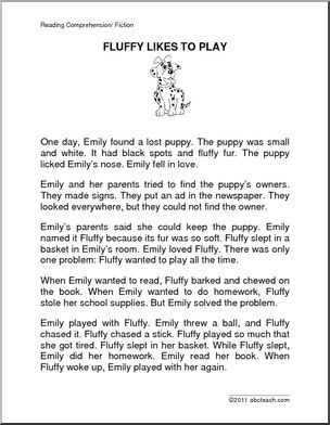 Fiction: Fluffy Likes to Play (primary) - Brief and easy reading ...