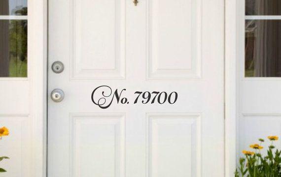 Front door numbers address decal door address front door decal number decal for door vinyl decal