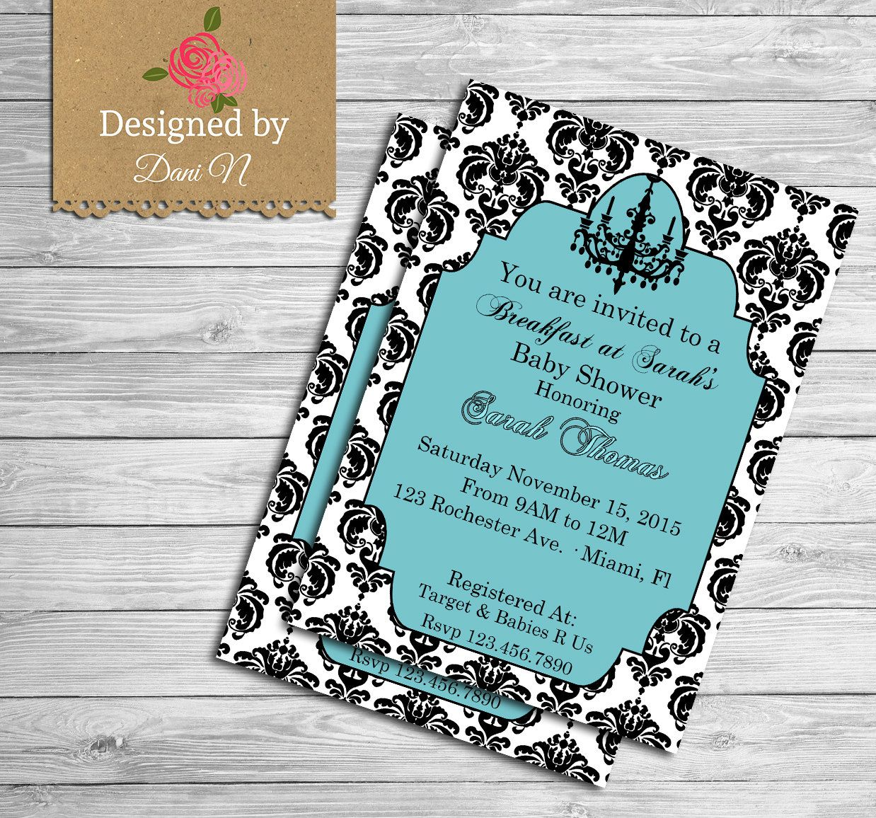 Etsy Product   Tiffany baby showers and Shower invitations