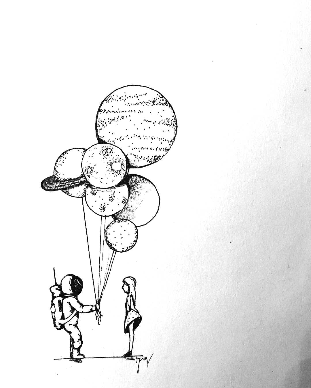 Houston M Arrangio Draw Paint Planets In