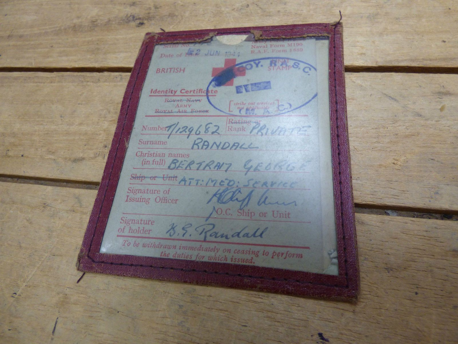 Collection of War Time Memorabilia - Photographs / Pay Books and Letters 1940s…