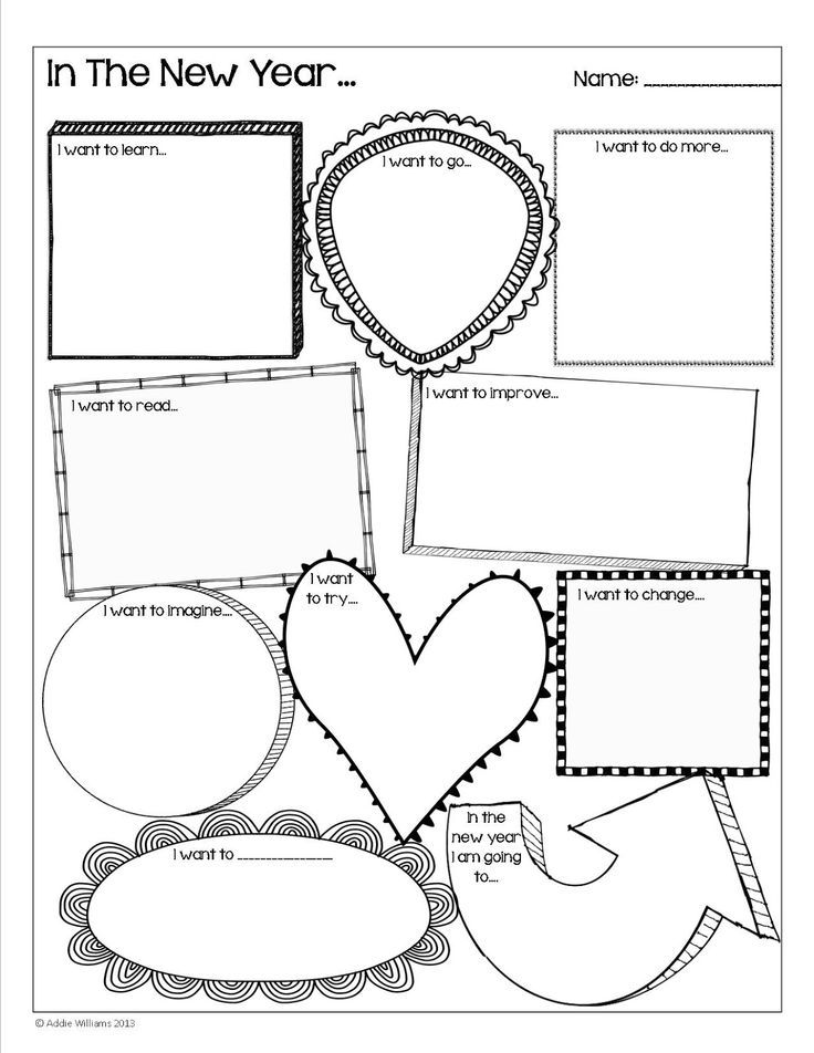 Happy New Year - Goal setting activity for students! A fun - smart goals template