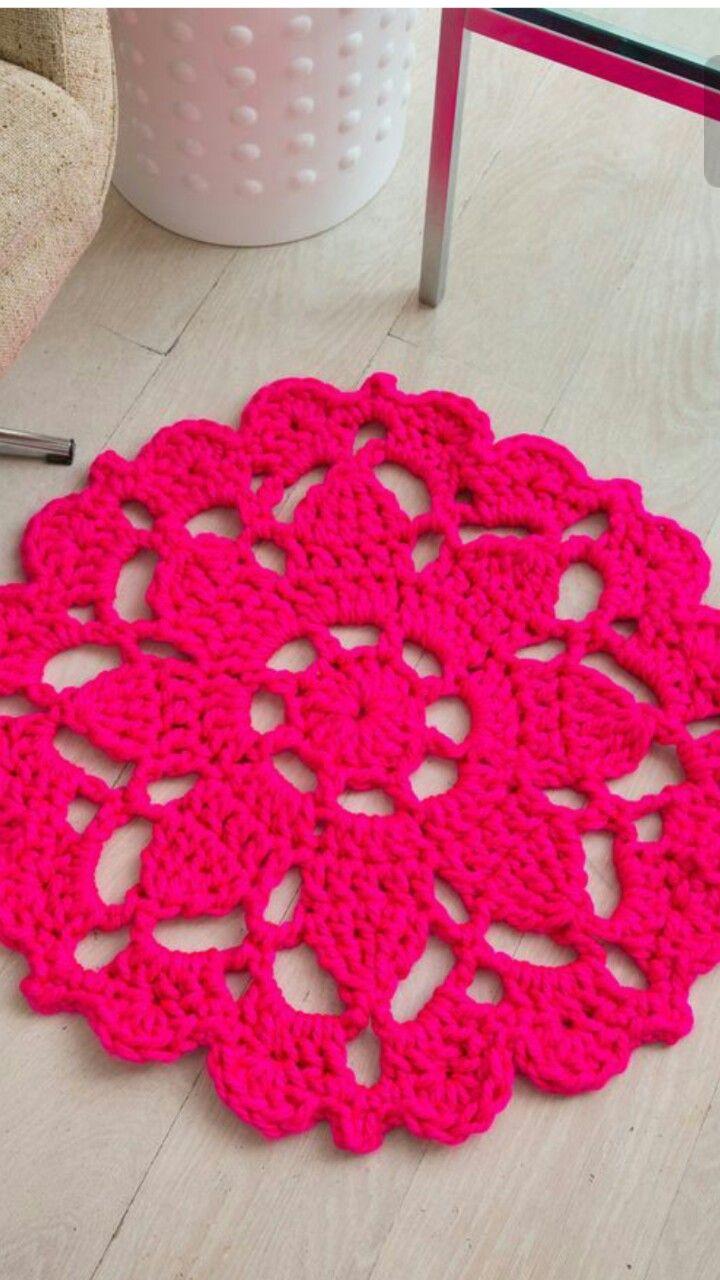 Diy Crochet Rug Crochet Pinterest Häkeln Teppich Häkeln And
