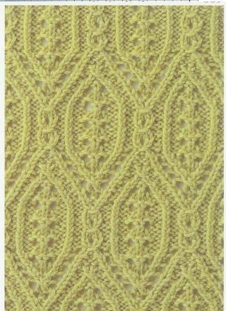 Lace Stitch Muster Stricken Japanische Muster Strickmuster
