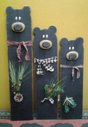 Black Wood Bear 2x4 ProjectsPallet Projects ChristmasScrap