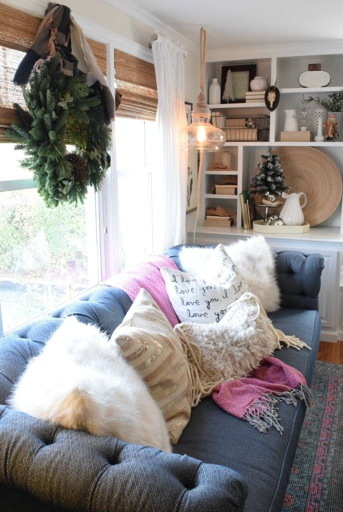Christmas Home Decor Ideas In A Cozy Cape Cod Style Home Blogger