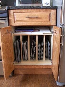 Vertical Storage For Baking Sheets, Muffin Pans, Etc. The First One Ive  Seen With Sufficient Space.