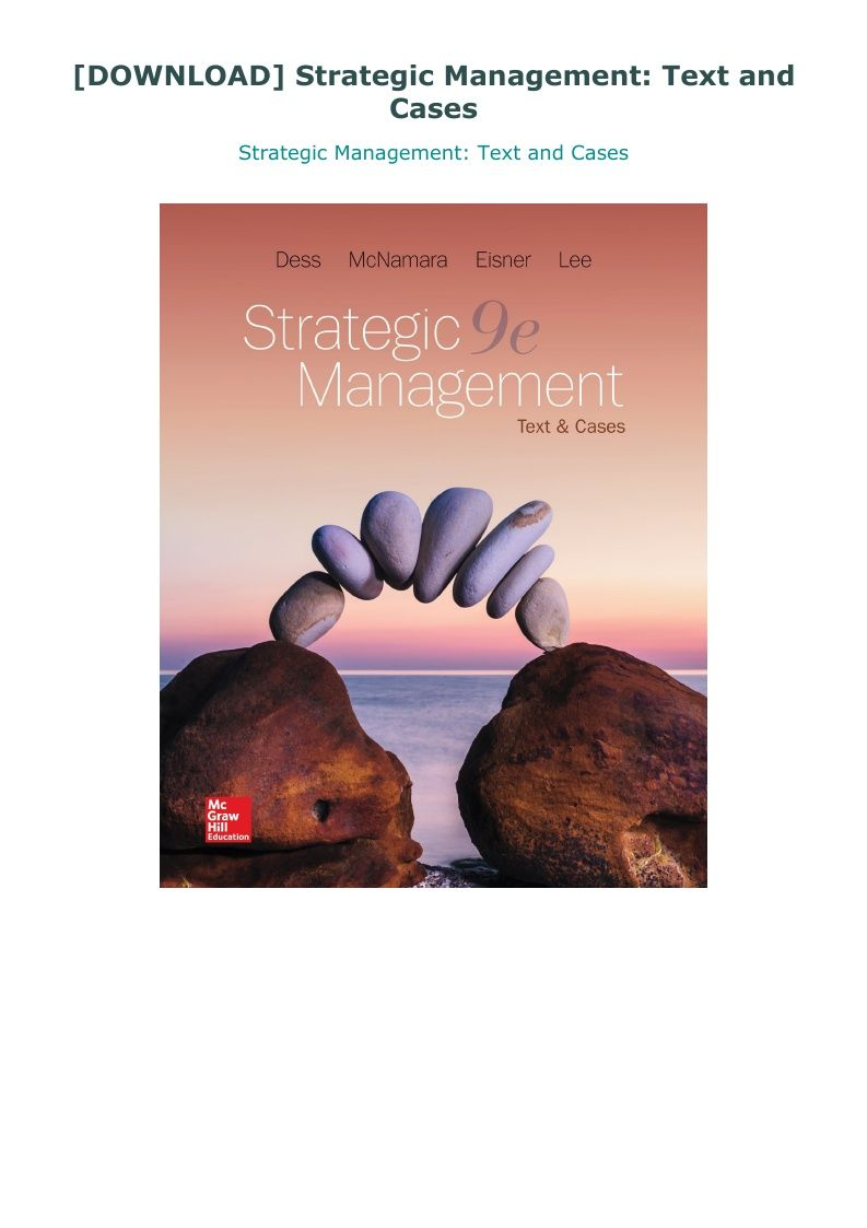 Download Strategic Management Text And Cases Management Strategic Writing Styles