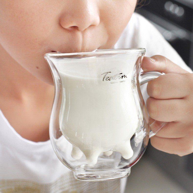 Udder Shaped Milk Glass Mug #coolmugs