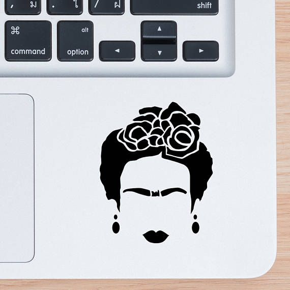 Frida Kahlo With Love Small Size Vinyl Sticker Yeti Cup