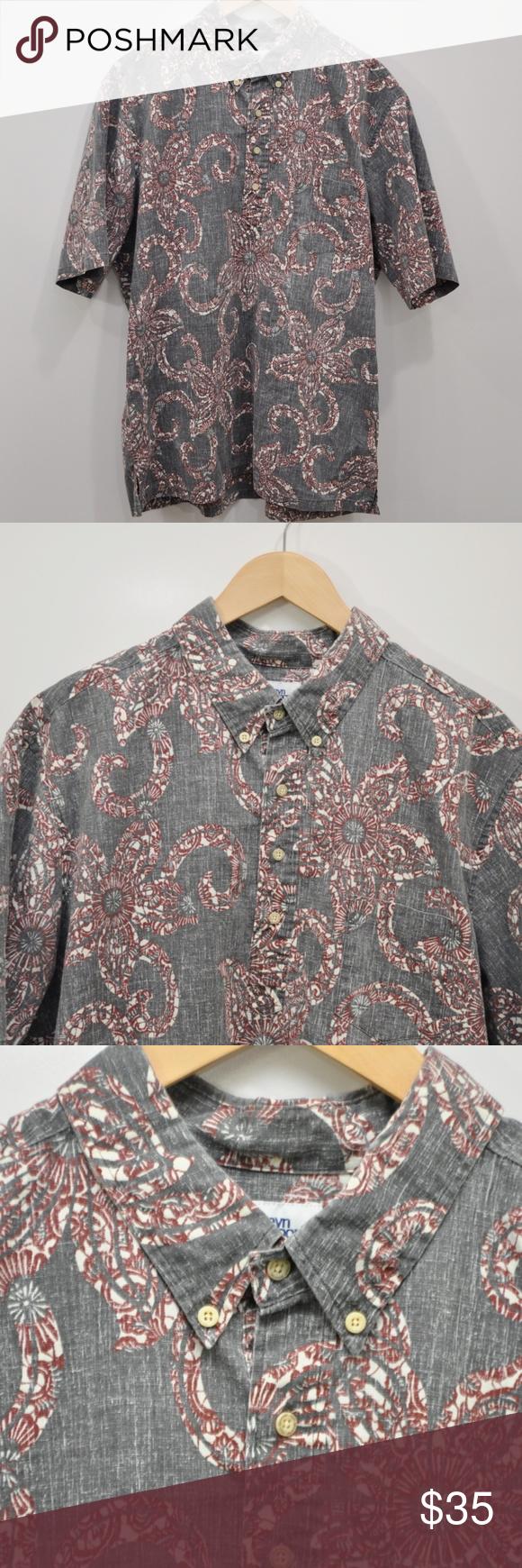 9ac738be8 Reyn Spooner Pullover Hawaiian Shirt Reyn Spooner Pullover Hawaiian Shirt  Reverse Print Size XXL Gray Aloha