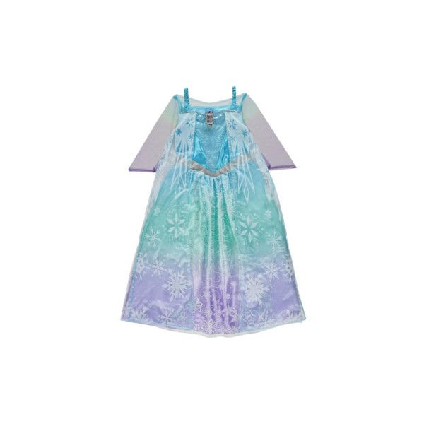 George Disney Frozen Musical and Light-Up Elsa Fancy Dress Costume (€19) ❤ liked on Polyvore featuring costumes, baby blue, blue halloween costume, transformer halloween costume, fancy costumes, transformers costume and glitter costume