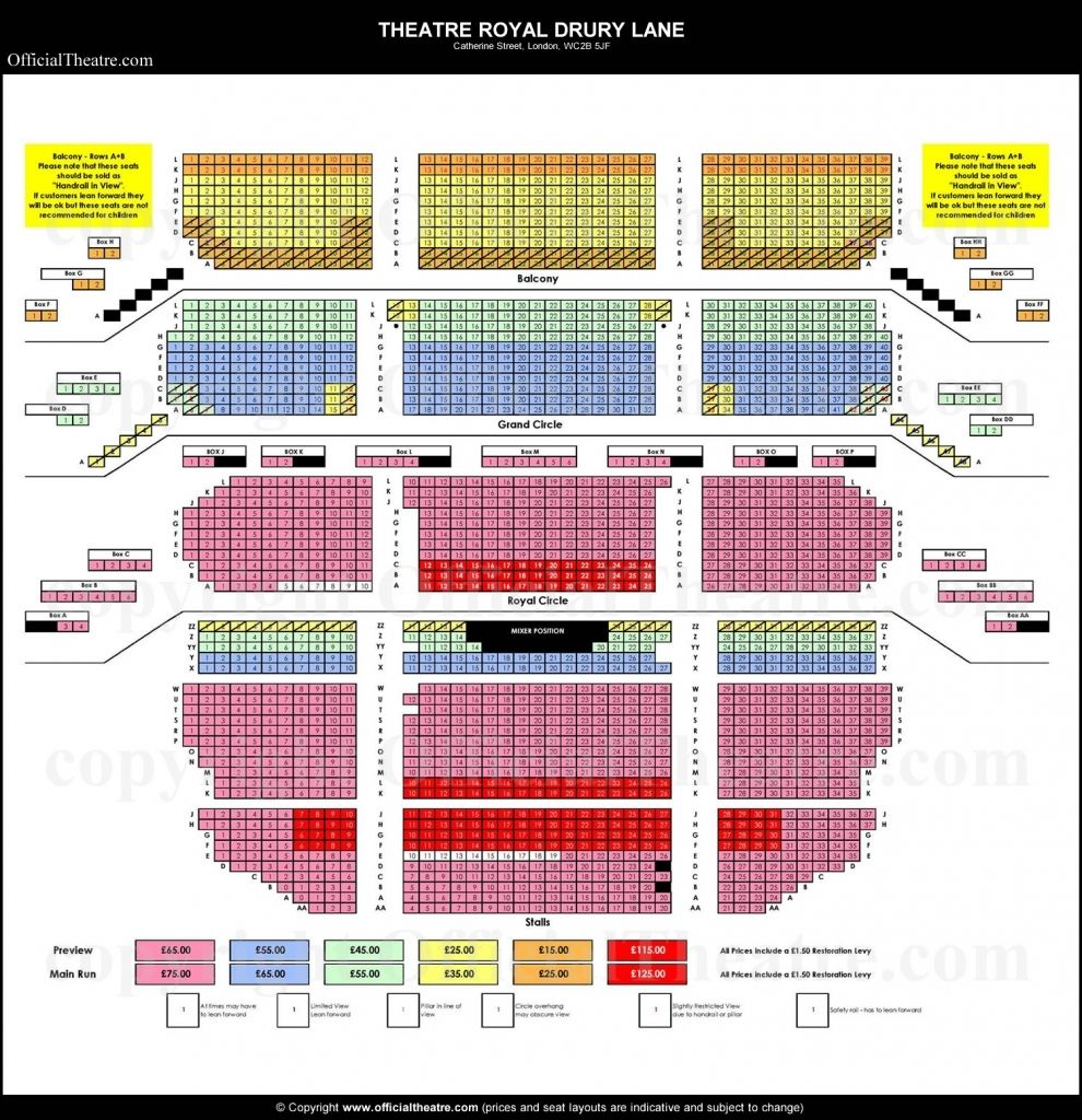 The Incredible In Addition To Interesting Drury Lane Seating Chart