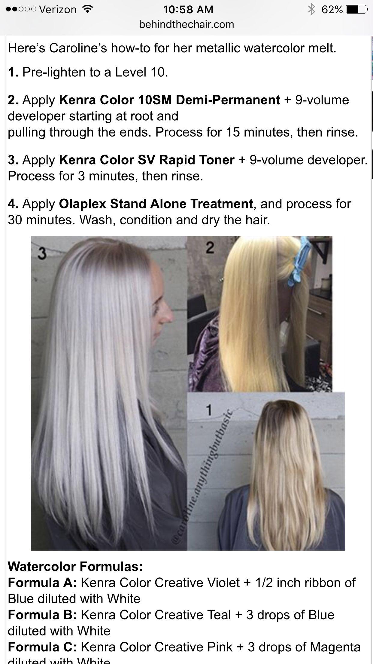 Pin By Alison Shrader On Color Hair Color Formulas Silver