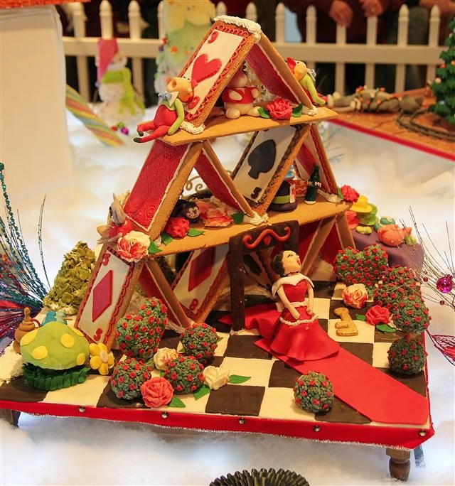 A House Of Cards Gingerbread House