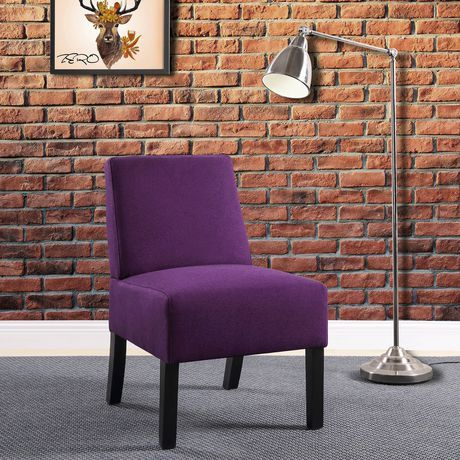 Worldwide Homefurnishings Inc Compact Accent Chair Purple Purple