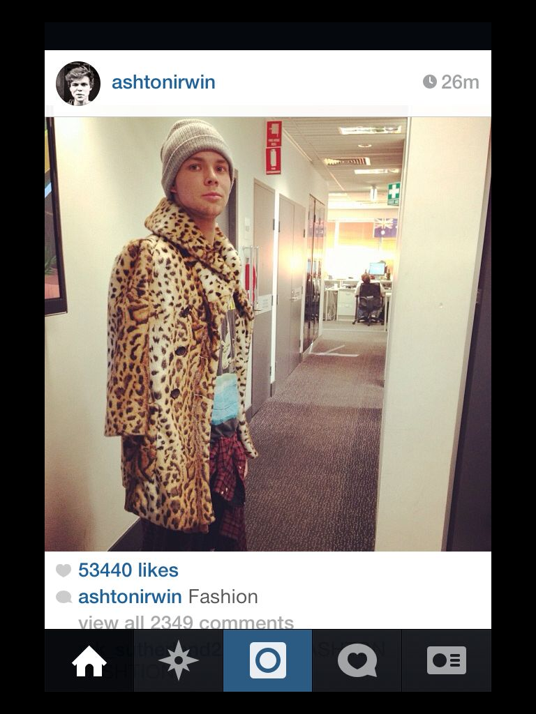 Ash posted this on instagram.... Work it baby!!!