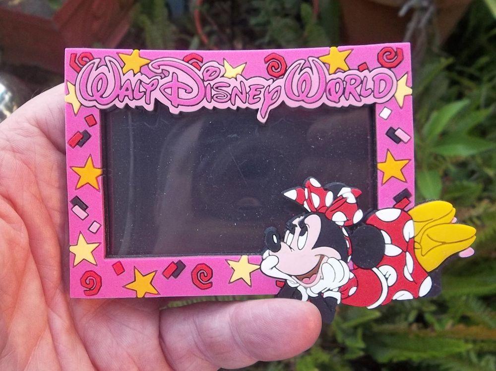 Walt Disney World Minnie Mouse Rubber Photo Frame Magnet | Walt ...