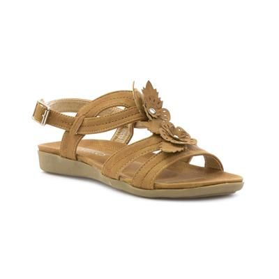 98fc3ba9261f Softlites Women s Tan Comfort Sandal with Flowers £12.99